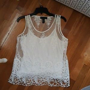 Ladies white 2 piece top